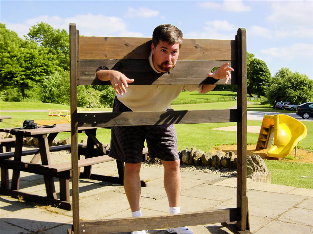 Roger in the stocks