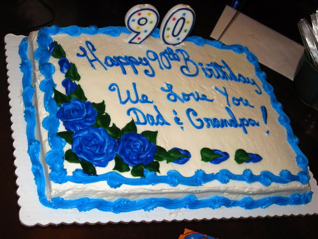Birthday Cake Images For Grandfather : Grandpa Dixon s 90th Birthday Family Events photos ...