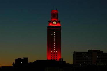 UT Tower - lit up #1 after the 2005 National Championship victory