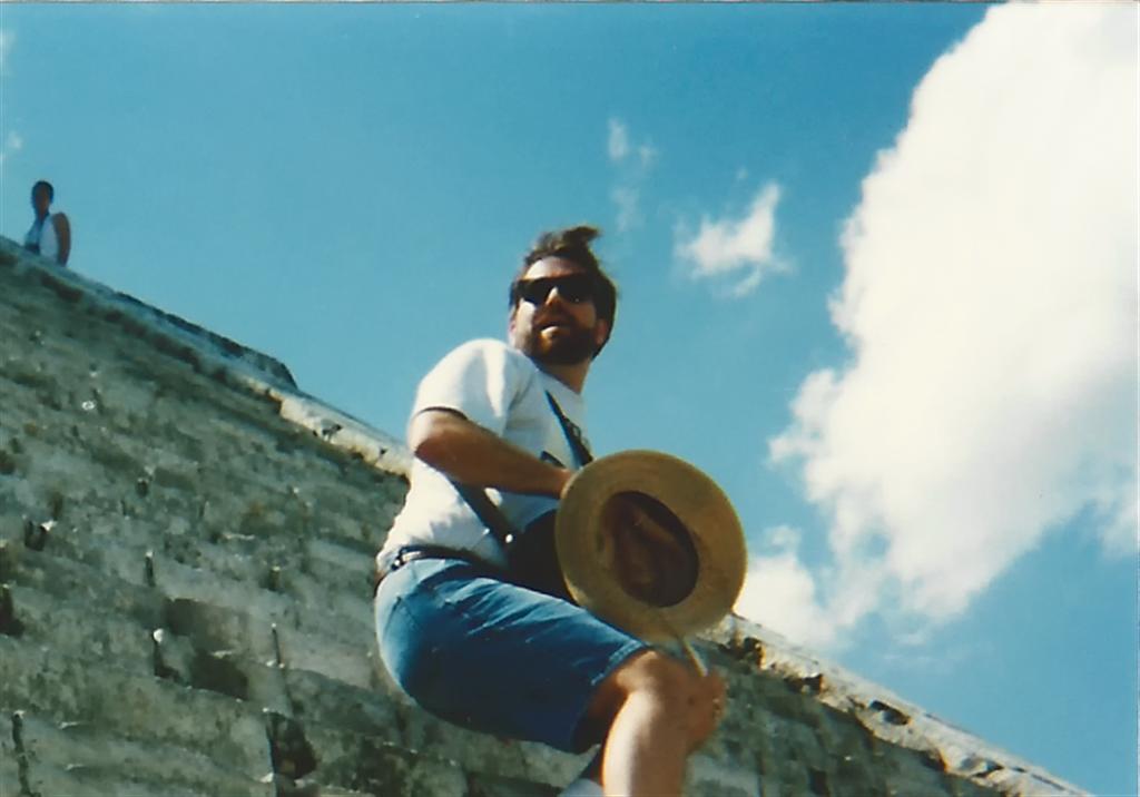 roger-climbing-down-el-castillo