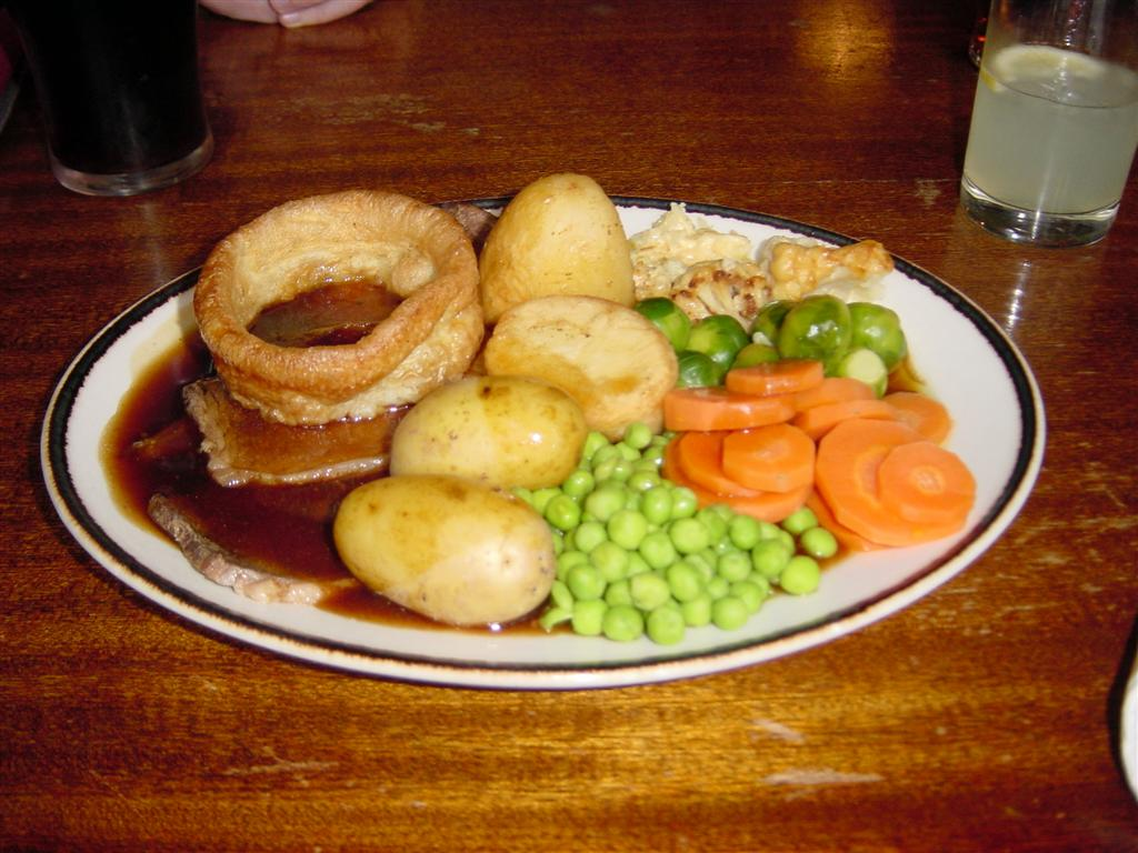 Roast beef lunch at the Anchor Pub