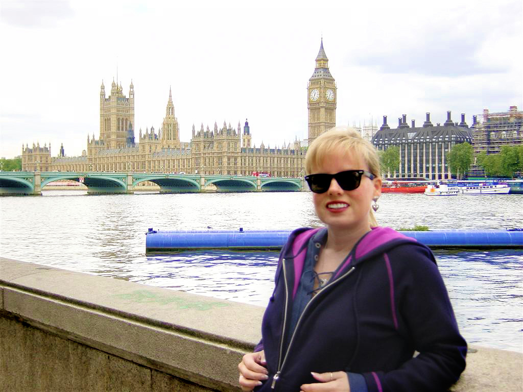 Kathy, Big Ben, and the Houses of Parliament