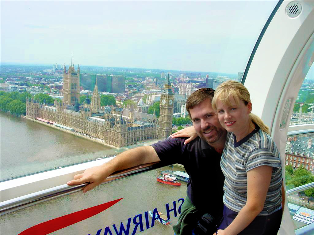 Roger and Kathy in London Eye