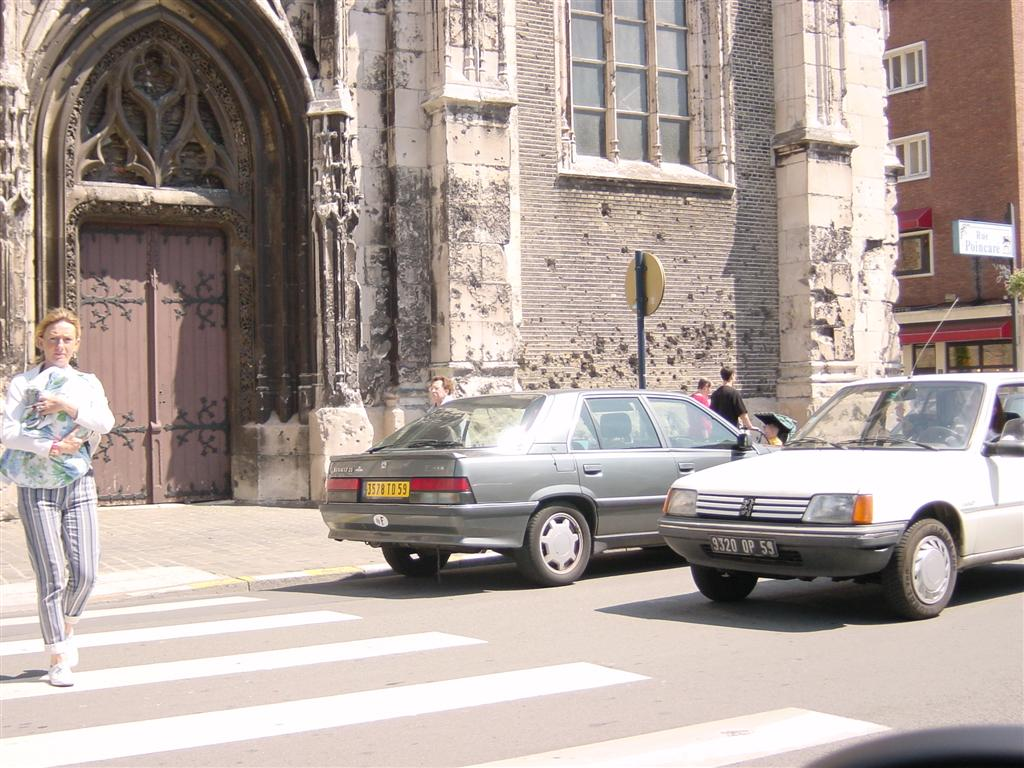 Church in Dunkirk - bullet holes