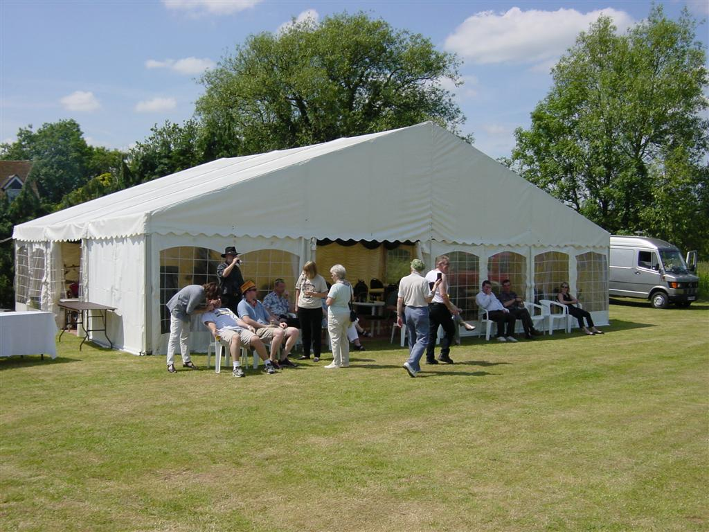 Marquis tent for barbeque