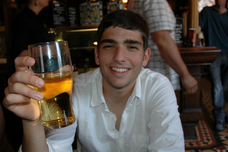 Andrew enjoys his Strongbow