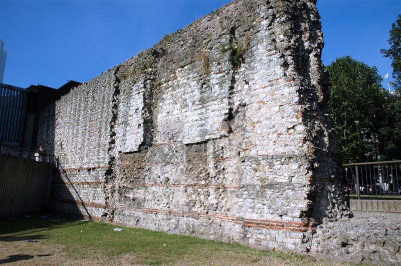 Roman wall remains