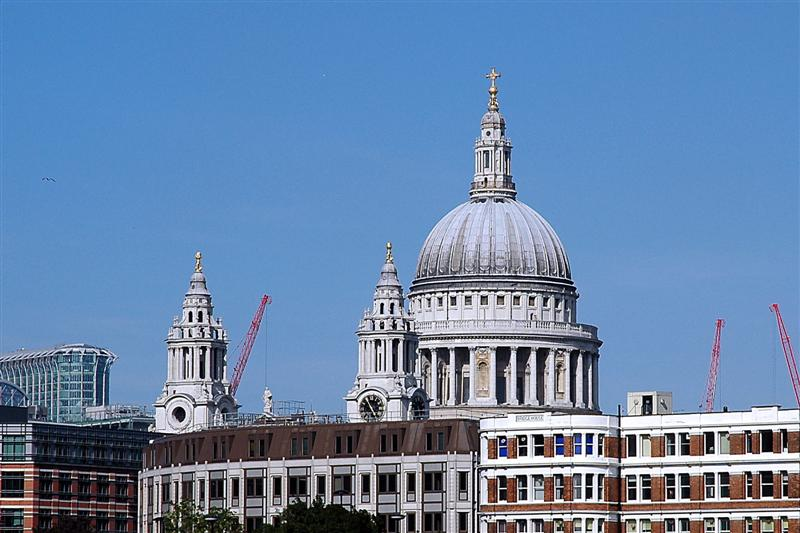 St. Paul's, as seen from the Thames