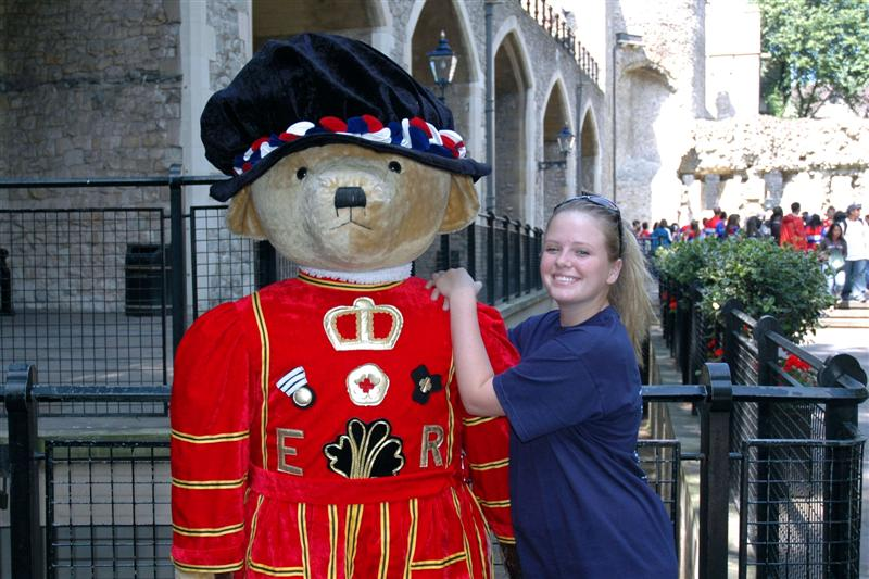 Beefeater Bear and Melanie