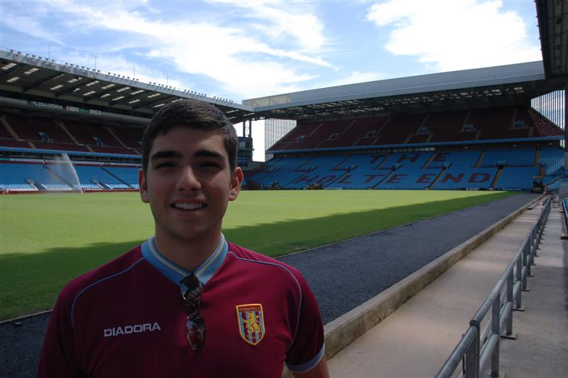 Andrew at the Aston Villa pitch