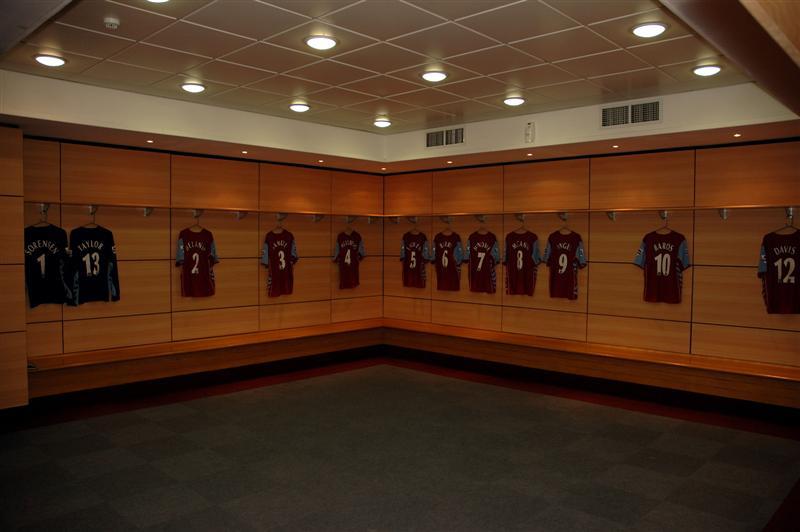 Aston Villa dressing room