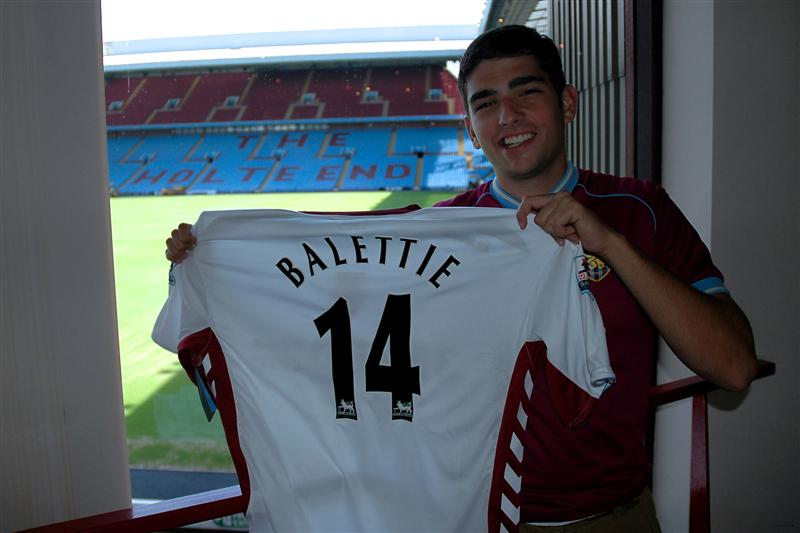 Villa's newest signee shows off his jersey