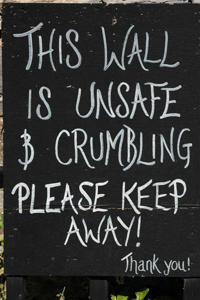 This wall's unsafe