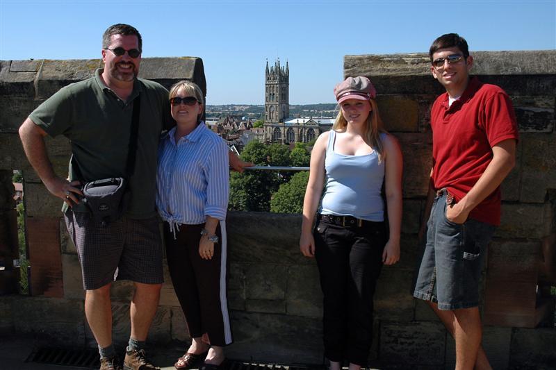 The Balettie Bunch atop Warwick Castle