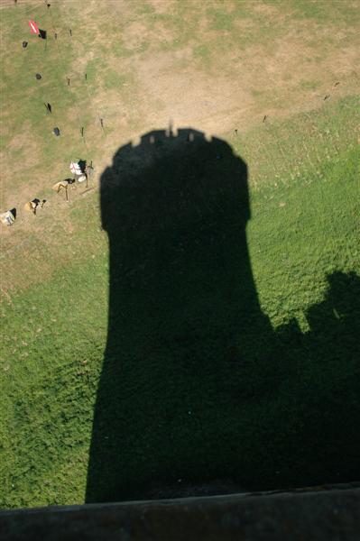 Warwick Castle shadow