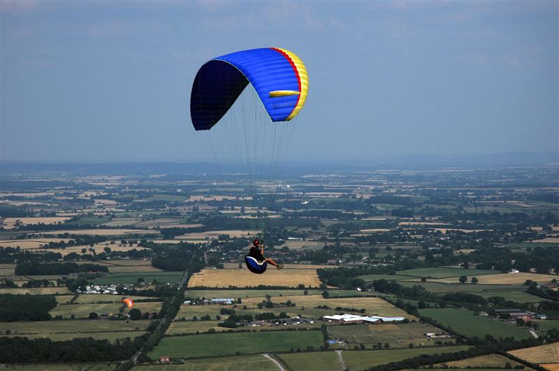 Parasailing over the Malverns