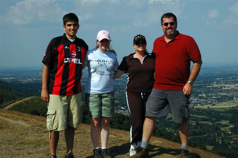 The Balettie Bunch high atop the Malvern Hills