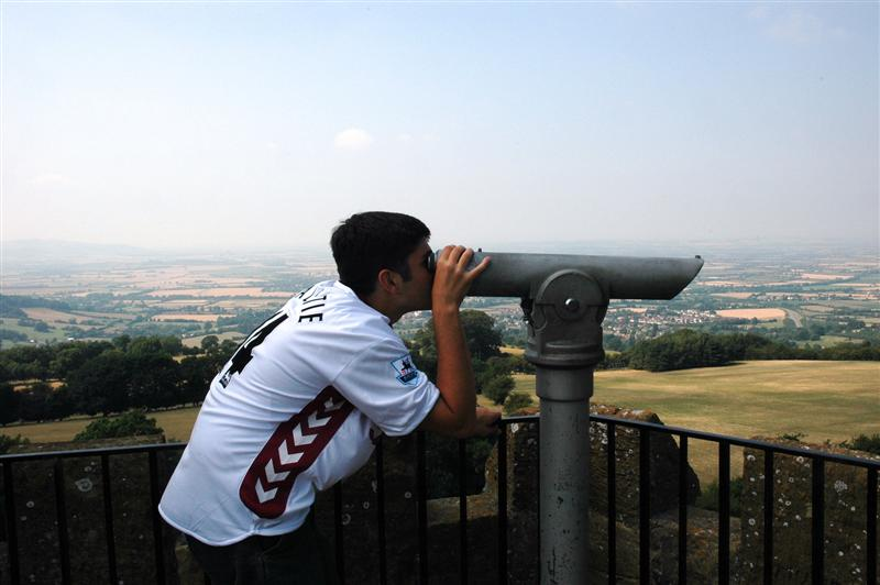 Andrew atop the Broadway Tower