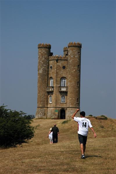 Andrew walks towards the Tower