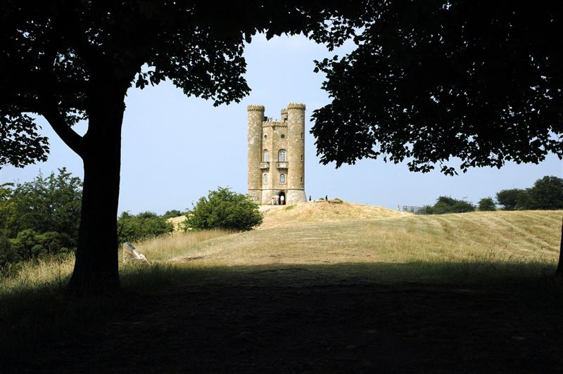 Broadway Tower through the trees