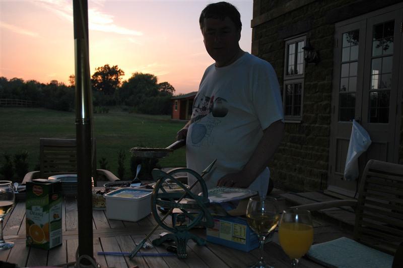 John serves grilled pie