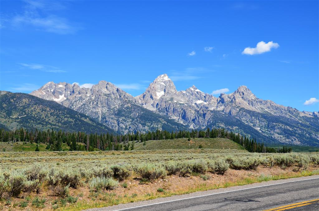 Roadside Teton view