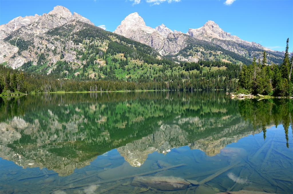 Taggart Lake - Teton reflections
