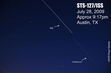 Shuttle and ISS sightings