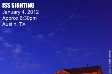 ISS Sighting - 4 Jan 12