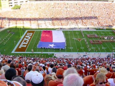 LHB - Texas flag pregame