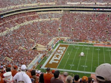Texas Band enters the stadium