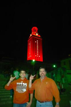 Andrew and Roger with UT Tower