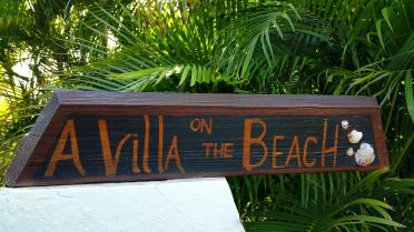 A Villa on the Beach sign 1