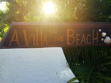 A Villa on the Beach sign 2