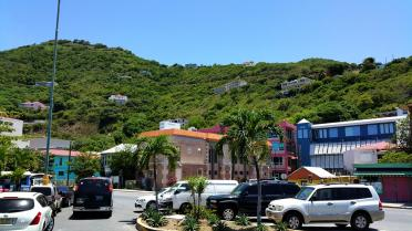 Road Town on Tortola - entry port into the British Virgin Islands