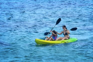 Alex and Michelle get in an early morning kayak adventure