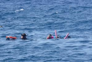 Kathy and Alex - snorkeling at RMS Rhone Marine Park 2