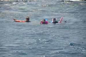 Kathy and Alex - snorkeling at RMS Rhone Marine Park 4