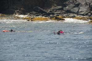 Kathy and Alex - snorkeling at RMS Rhone Marine Park 5