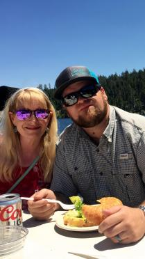 LeAnn and Jarrett - lunch on the lake