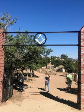 Virginia City cemetery entrance