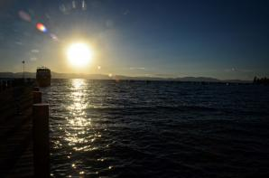 Lake Tahoe - Zephyr Cove pier sunset 02