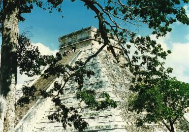 El Castillo through the trees (2)