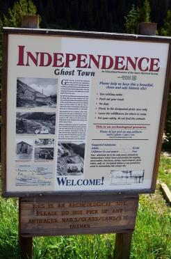 Independence ghost town marker