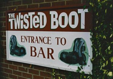 The Twisted Boot - pub entrance