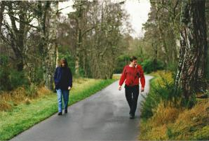Marianne and John - Skibo path