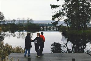 Skibo pond - Marianne, Mark, and John