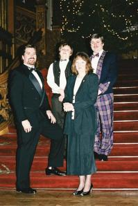 Skibo stairs - Roger, Mark, Marianne, and John