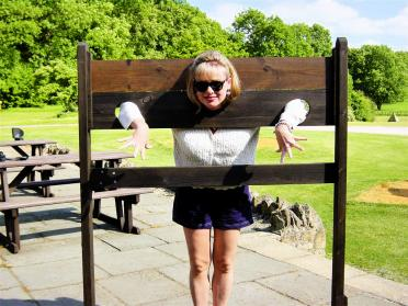 Kathy in the stocks
