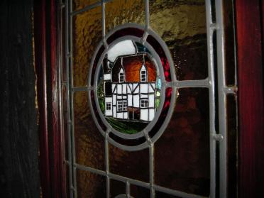 Mill Cottage as stained glass